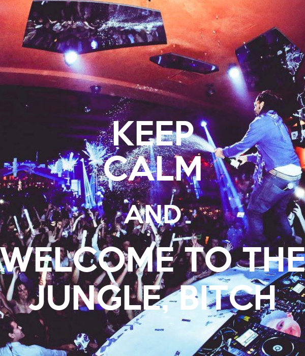 KEEP CALM AND WELCOME TO THE JUNGLE, BITCH