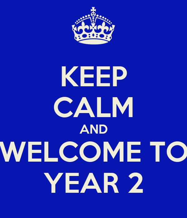 KEEP CALM AND WELCOME TO YEAR 2