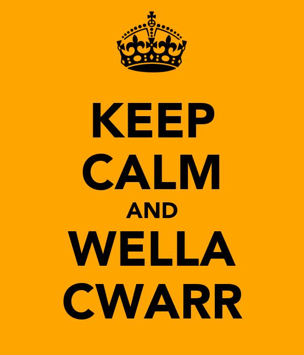 KEEP CALM AND WELLA CWARR