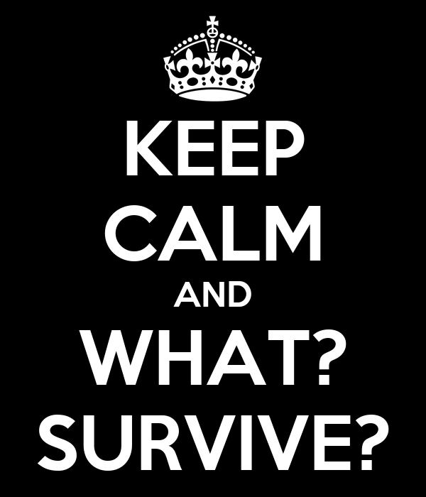 KEEP CALM AND WHAT? SURVIVE?