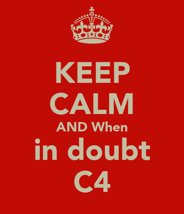 KEEP CALM AND When in doubt C4