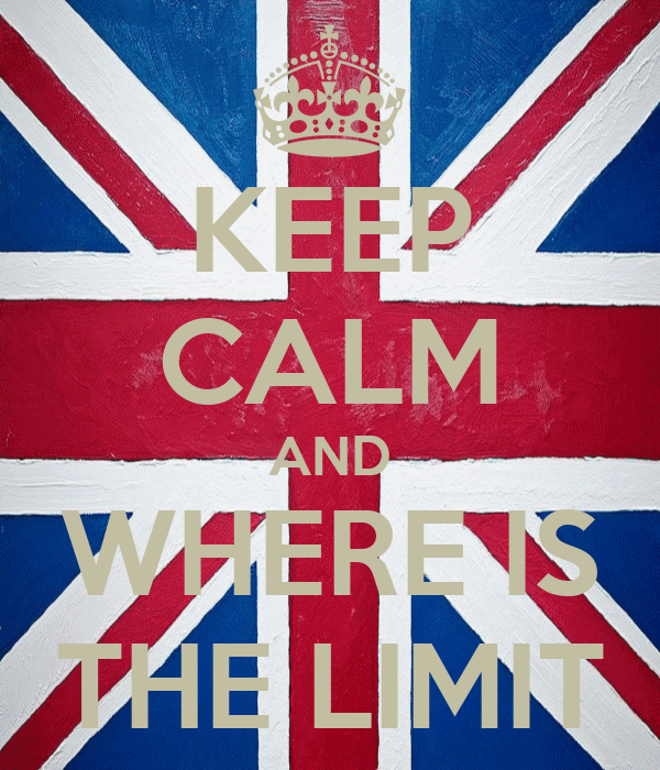 KEEP CALM AND WHERE IS THE LIMIT
