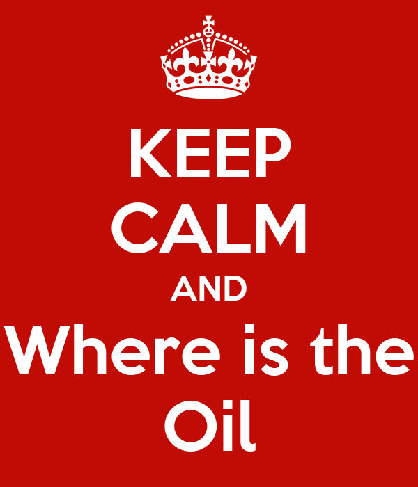 KEEP CALM AND Where is the Oil