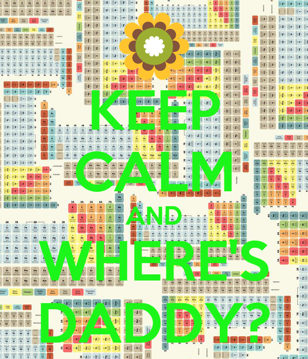 KEEP CALM AND WHERE'S DADDY?