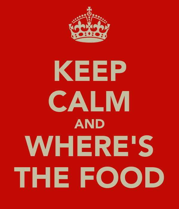 KEEP CALM AND WHERE'S THE FOOD