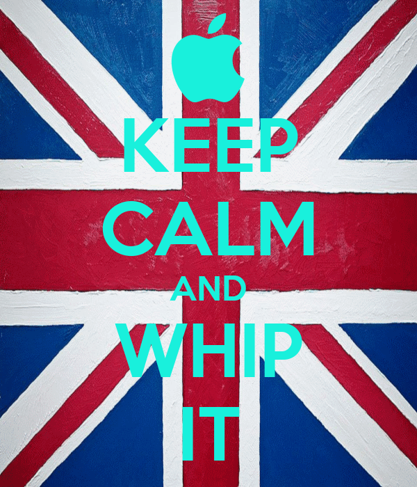 KEEP CALM AND WHIP IT