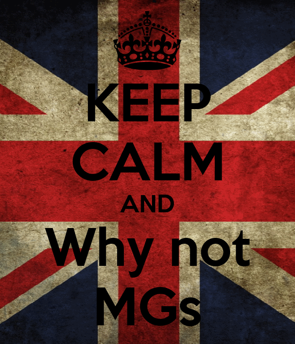 KEEP CALM AND Why not MGs