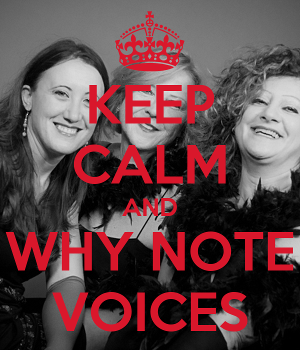 KEEP CALM AND WHY NOTE VOICES