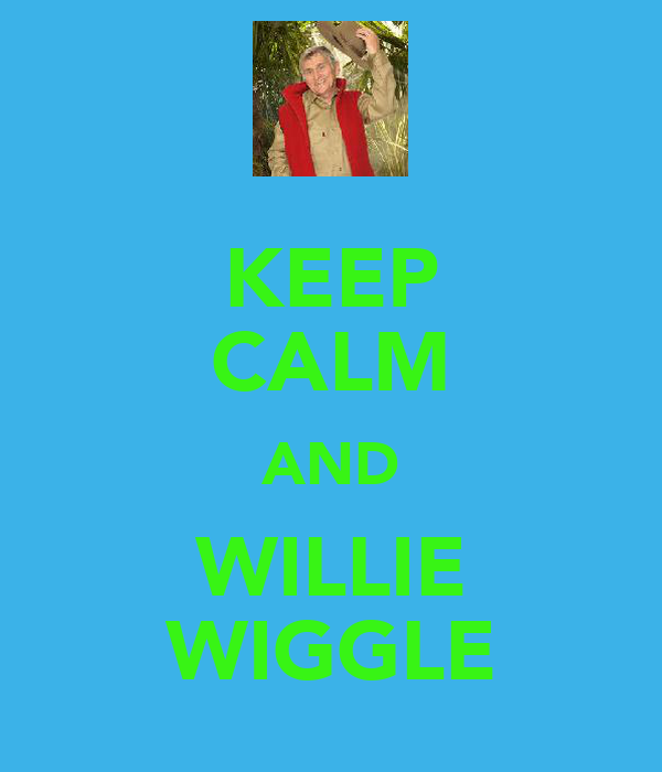 KEEP CALM AND WILLIE WIGGLE