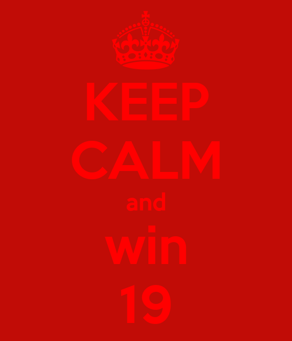 KEEP CALM and win 19