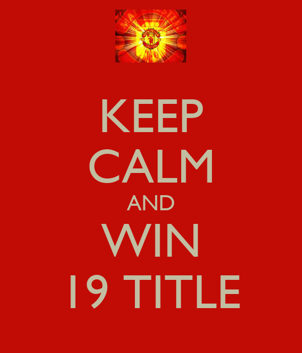 KEEP CALM AND WIN 19 TITLE