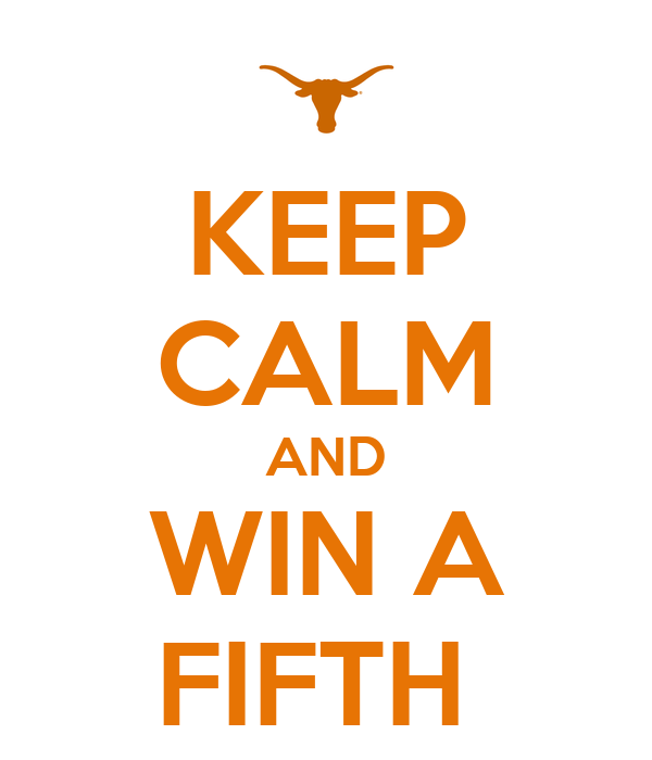 KEEP CALM AND WIN A FIFTH