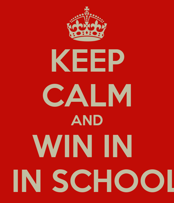 KEEP CALM AND WIN IN  F1 IN SCHOOLS