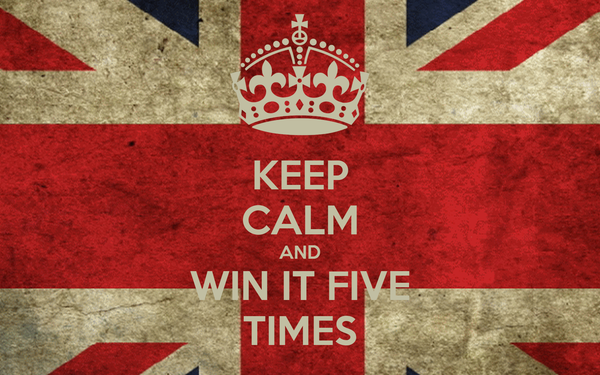 KEEP CALM AND WIN IT FIVE TIMES