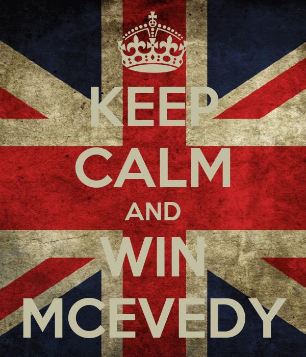 KEEP CALM AND WIN MCEVEDY