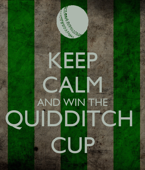 KEEP CALM AND WIN THE QUIDDITCH  CUP