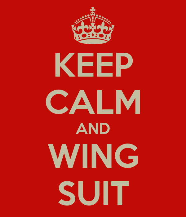KEEP CALM AND WING SUIT