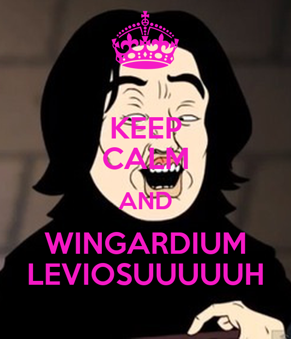 KEEP CALM AND WINGARDIUM LEVIOSUUUUUH