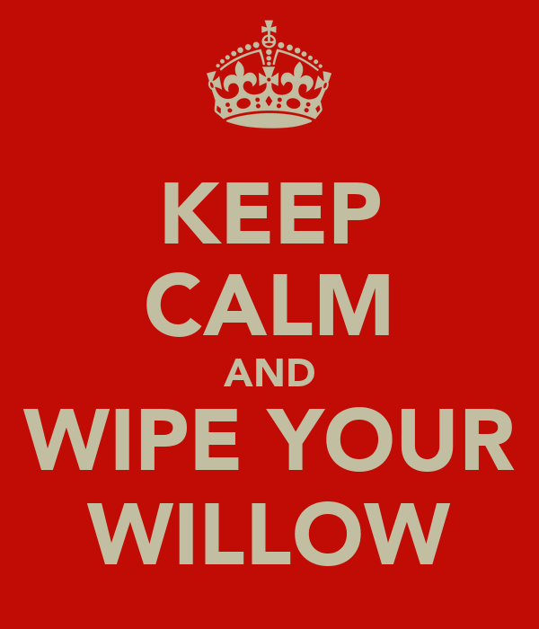 KEEP CALM AND WIPE YOUR WILLOW