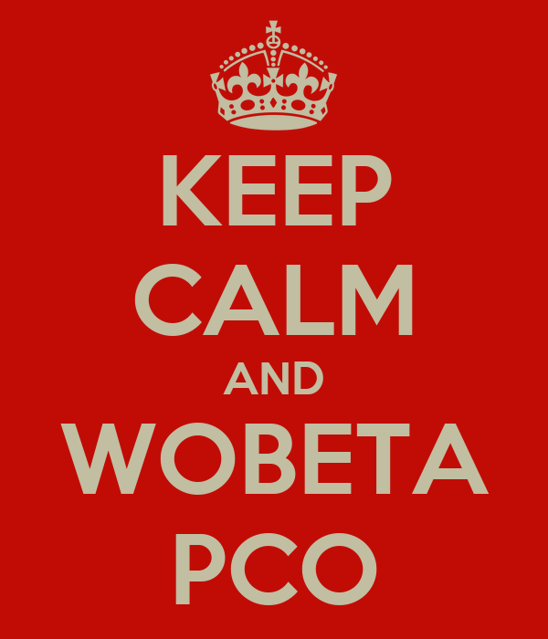 KEEP CALM AND WOBETA PCO