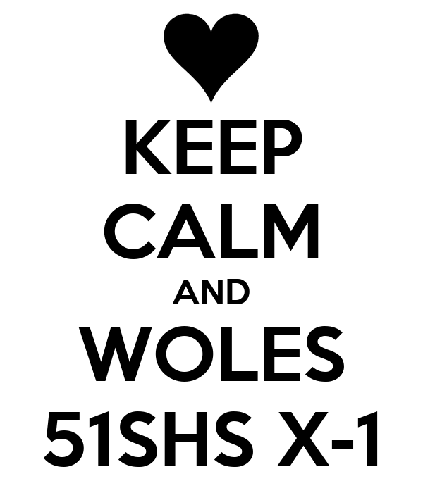 KEEP CALM AND WOLES 51SHS X-1