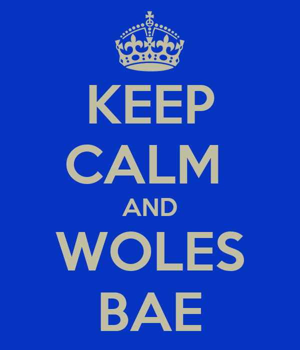 KEEP CALM  AND WOLES BAE