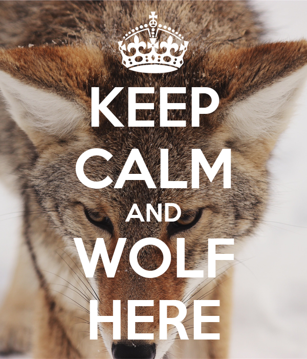KEEP CALM AND WOLF HERE