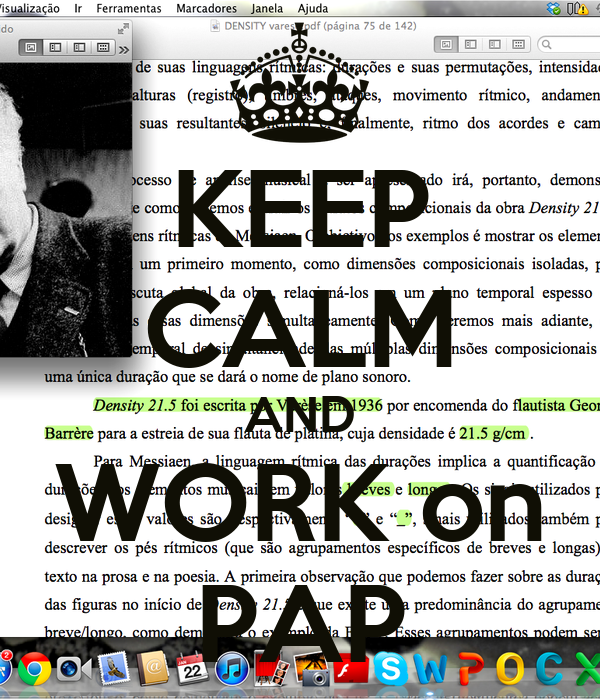KEEP CALM AND WORK on PAP