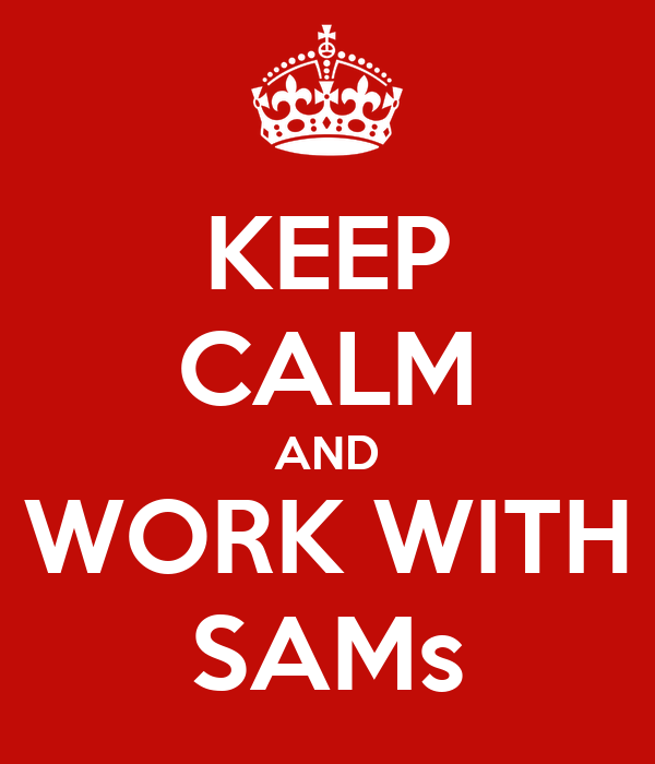 KEEP CALM AND WORK WITH SAMs