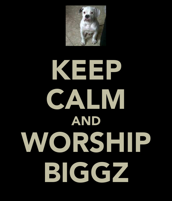 KEEP CALM AND WORSHIP BIGGZ