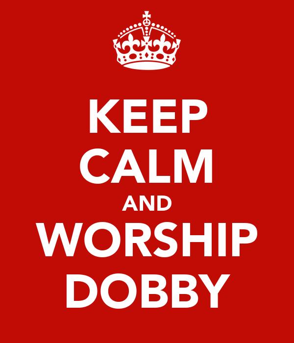 KEEP CALM AND WORSHIP DOBBY