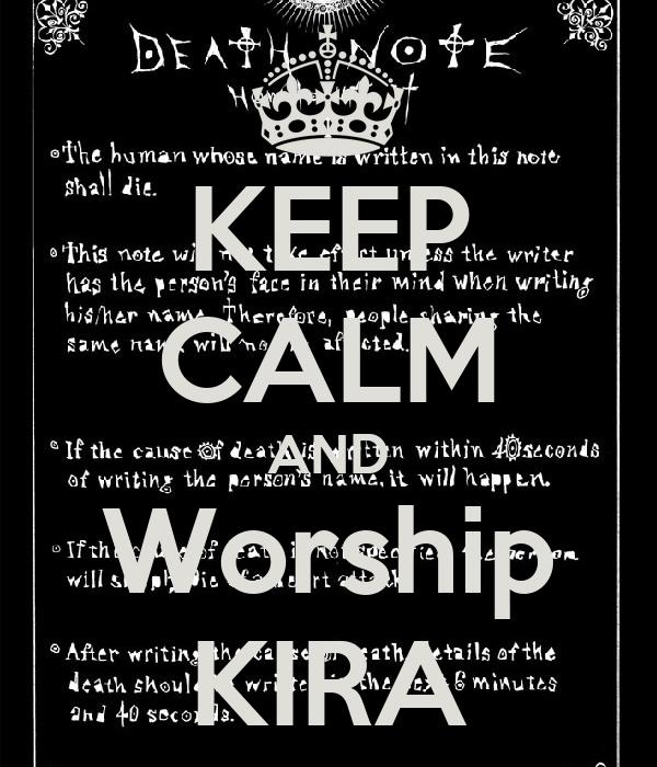 KEEP CALM AND Worship KIRA