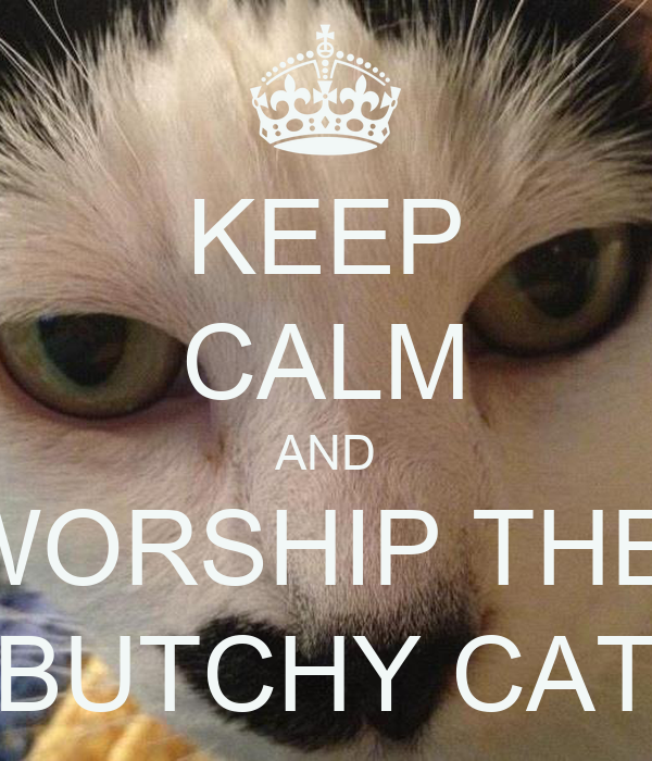 KEEP CALM AND WORSHIP THE  BUTCHY CAT