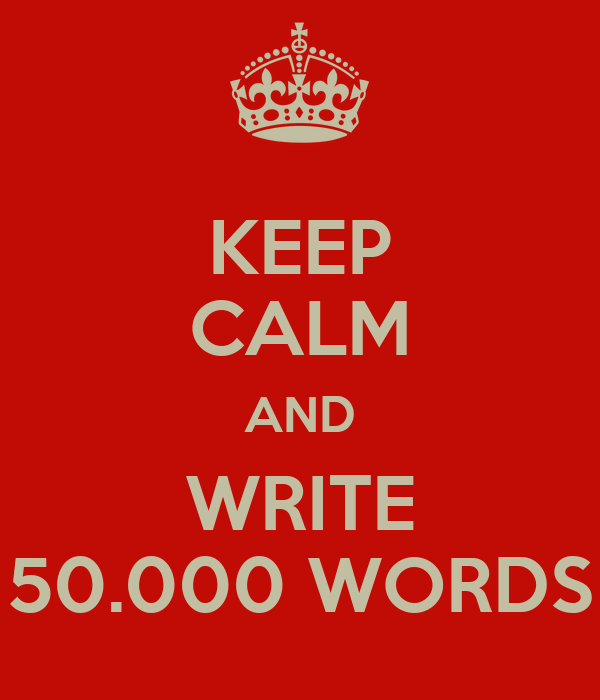 Doing 50,000 Words in 30 Days