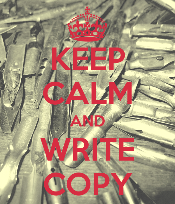 keep calm and write on No matter how you feel, keep calm and write on.