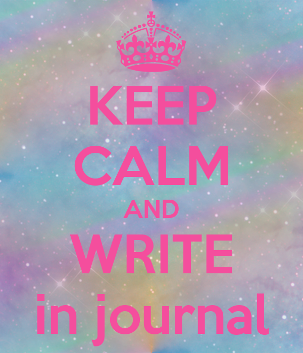 KEEP CALM AND WRITE in journal