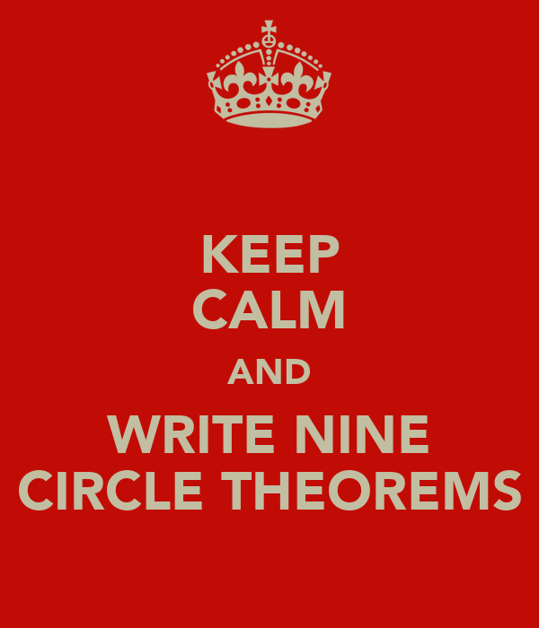 KEEP CALM AND WRITE NINE CIRCLE THEOREMS