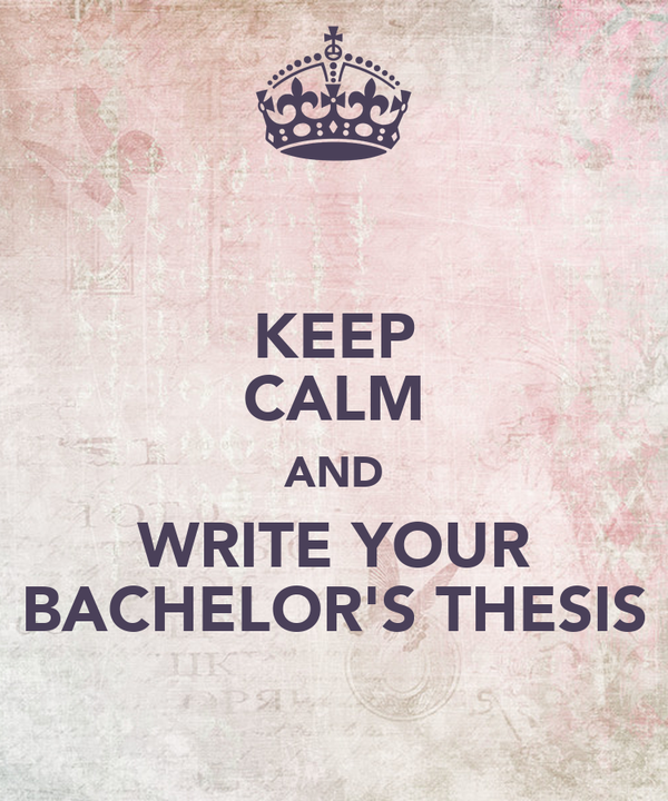 bachelor thesis buy Try our thesis help online or buy thesis online if you are full-time job working student who wants to write a-grade paper you will be provided with our best.