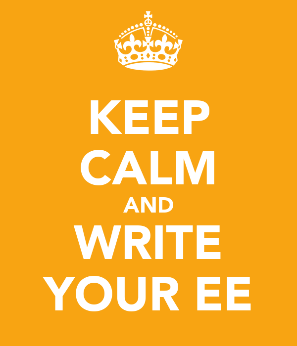 KEEP CALM AND WRITE YOUR EE