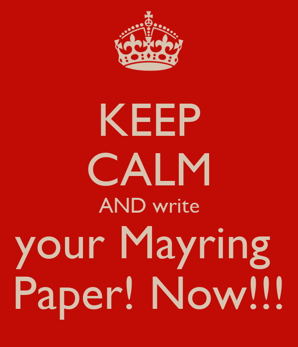 KEEP CALM AND write your Mayring  Paper! Now!!!