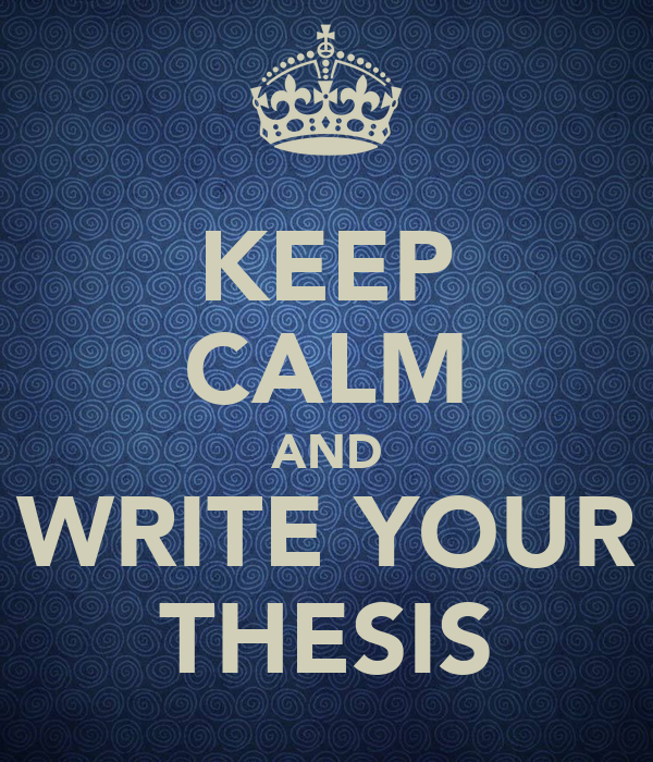 write your thesis in 3 months Guidelines for the preparation of your master's thesis  • before starting to write your thesis, refer to guidelines for writing thesis section.