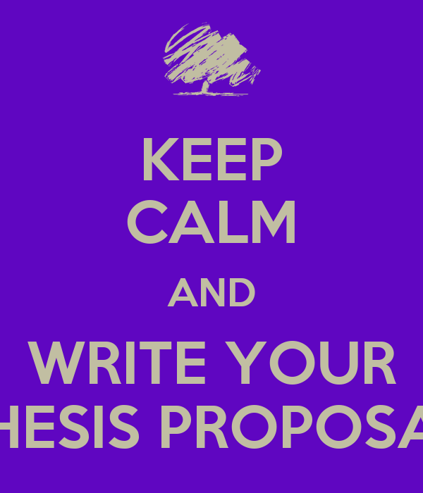 writing your thesis proposal