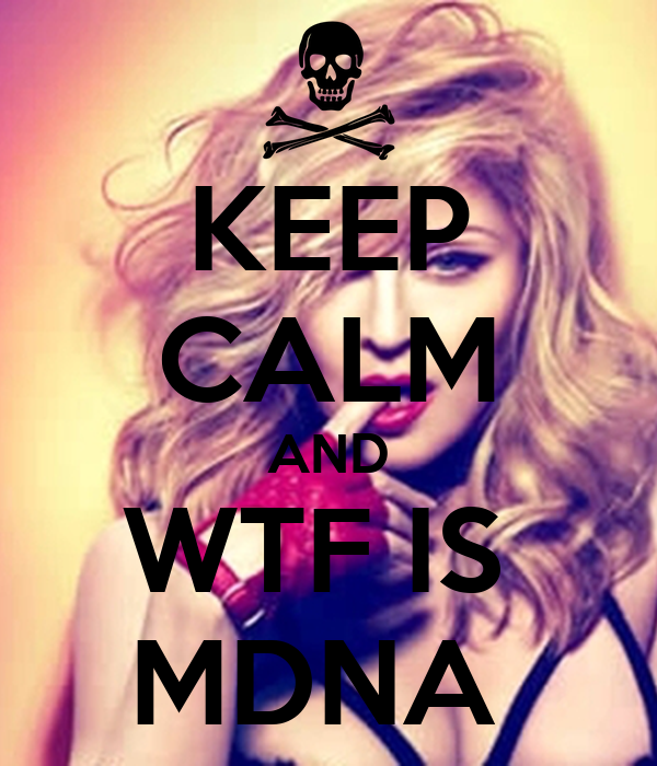 KEEP CALM AND WTF IS  MDNA