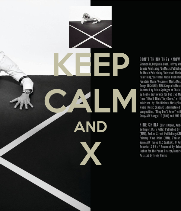 KEEP CALM AND X