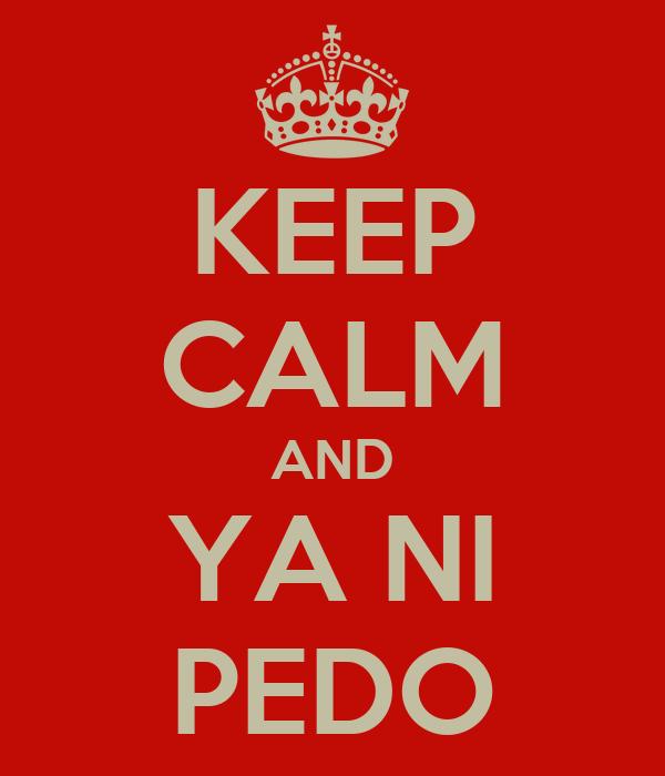 KEEP CALM AND YA NI PEDO