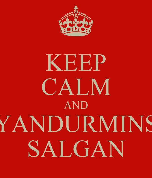 KEEP CALM AND YANDURMINS SALGAN