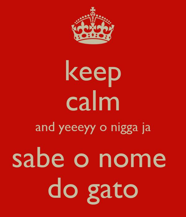keep calm and yeeeyy o nigga ja sabe o nome  do gato