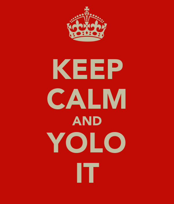 KEEP CALM AND YOLO IT