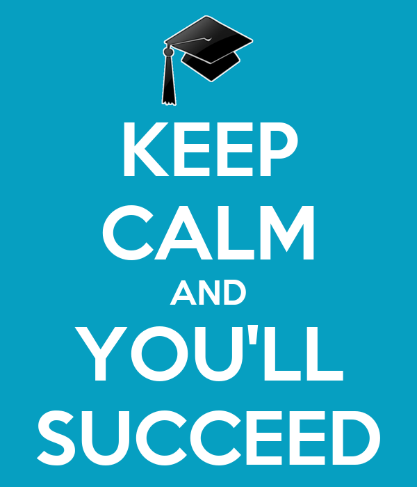 KEEP CALM AND YOU'LL SUCCEED