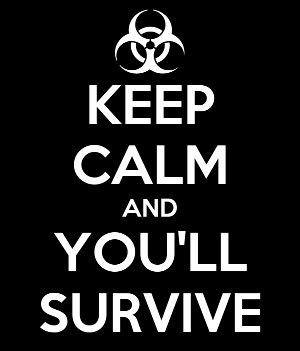 KEEP CALM AND YOU'LL SURVIVE